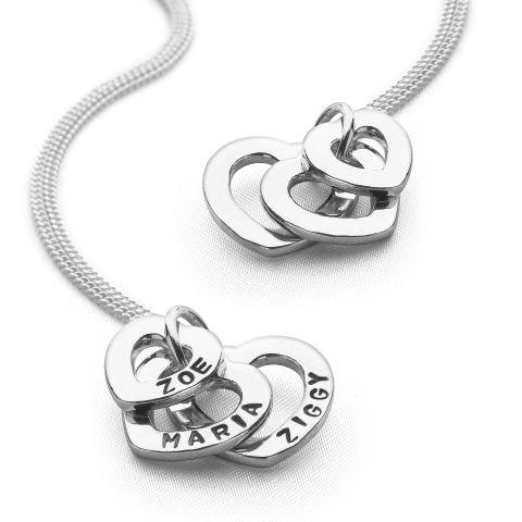 Personalised Hearts Pendant