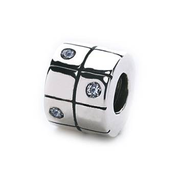 Majestic Tile Bead (silver)