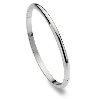 D-Shaped Bangle (4mm)
