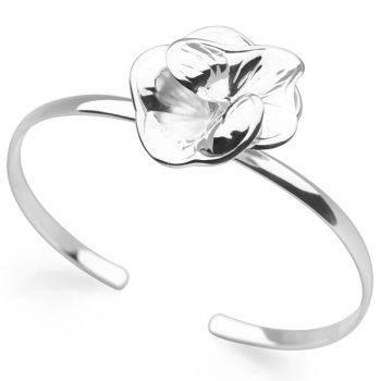 Silver Corsage Bangle