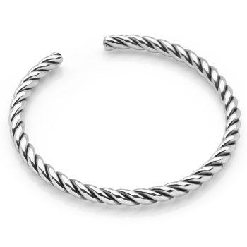 Silver Rope Bangle