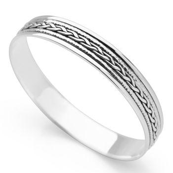 Woven Spin Bangle (Silver)