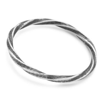 Silver Flare Bangle