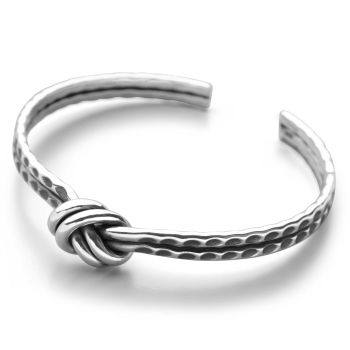 Hammered Knot Bangle
