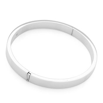 D-Shaped Flat 7mm Hinged Bangle