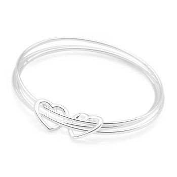 Two Hearts Bangle