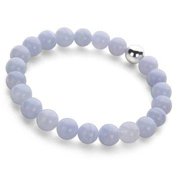 Lucky Beads Bracelet (Blue Lace Agate)