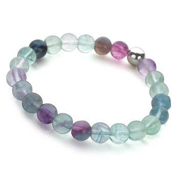 Lucky Beads Bracelet (Fluorite)