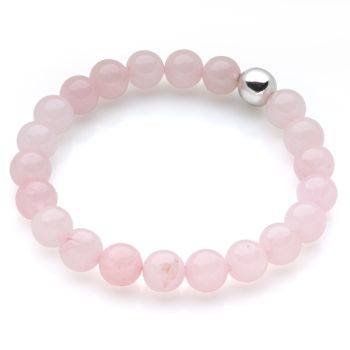 Lucky Beads Bracelet (Rose Quartz)