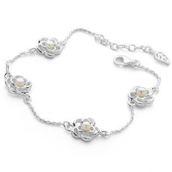 Pearl and Petals Bracelet