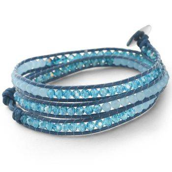 Teal Wrap Bracelet (Triple Row)