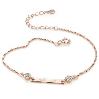 Synergy Friendship Bracelet in Rose Gold