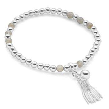 Labradorite Tassel Bracelet
