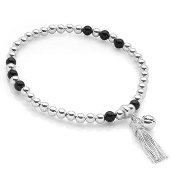 Onyx Tassel Bracelet