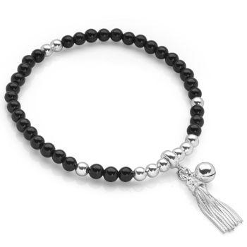 Chime Tassel Bracelet (Onyx)