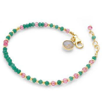 Viridian Blush Bracelet (Gold Plate)
