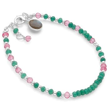 Viridian Blush Bracelet (Silver)
