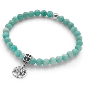 Amazonite Tree of Life Bracelet