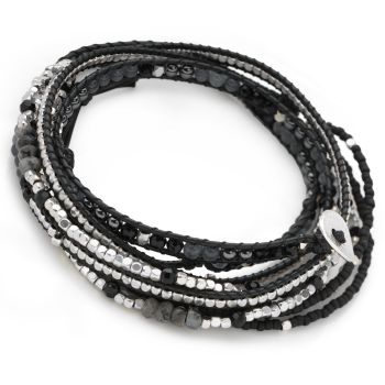 Miami Wrap Bracelet (Black)