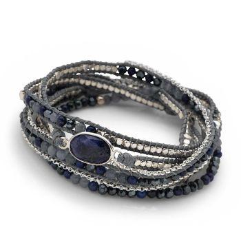 Lapis Wrap Bracelet