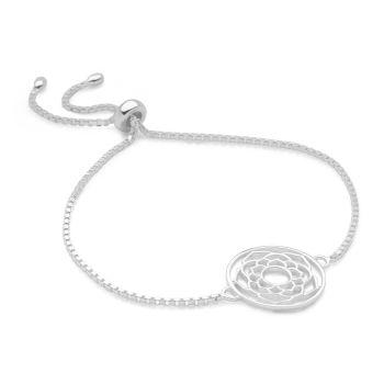 Silver Crown Chakra Bracelet