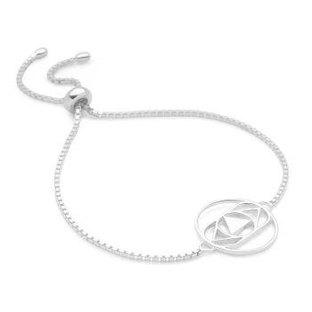 Silver Third Eye Chakra Bracelet