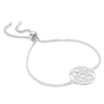 Silver Heart Chakra Bracelet