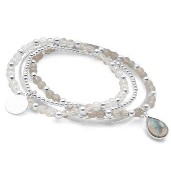 Moonstone Bracelet Stack
