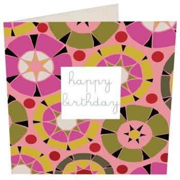 Happy Birthday Card (Geometric)