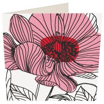 Peony Card (Blank)