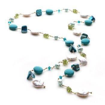Fantasy Chain (Turquoise/Peridot)