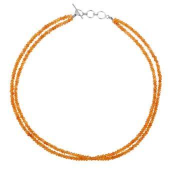 Semi Precious Bead Necklace Carnelian