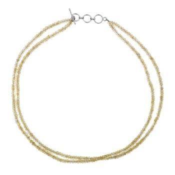 Semi Precious Bead Necklace Citrine