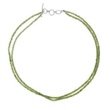 Semi Precious Bead Necklace Peridot