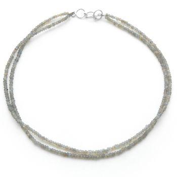 Semi Precious Bead Necklace Labradorite
