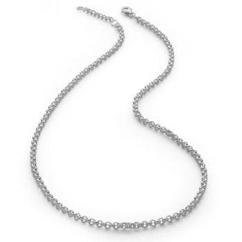 Silver Belcher Chain 42.5-45.5cm (Adjustable)