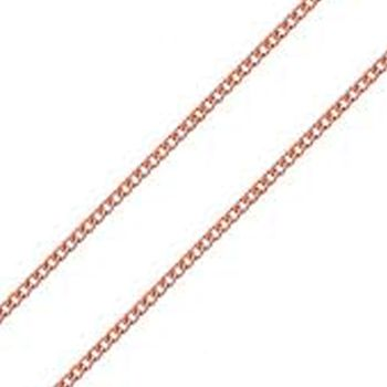 Rose Gold Plate Curb Chain 40cm
