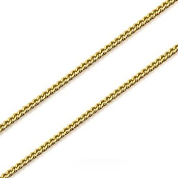 Gold Plated Curb Chain 50cm