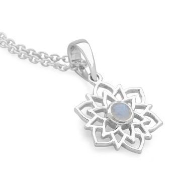 Moonstone Lotus Chain