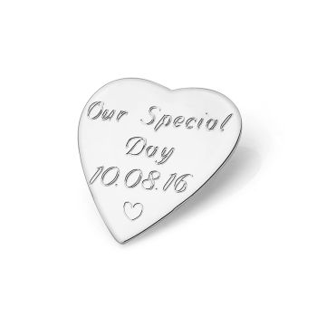 Engravable Heart Charm