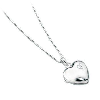 Diamond Heart Children's Locket