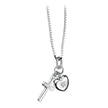 Cross and Heart Children's Pendant
