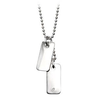 Diamond Double Tag Children's Necklace