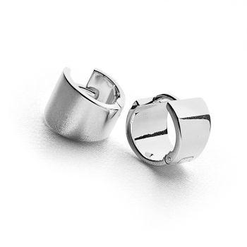 Wedge Silver Earrings