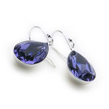 Crystal Tears Earrings (Tanzanite)