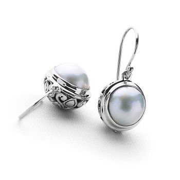 Moon in Gemini Earrings (White)