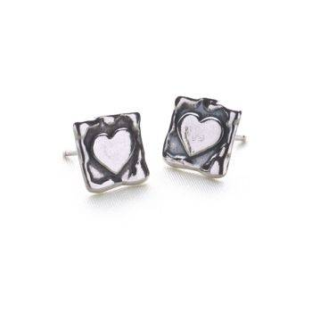 Silver Obsession Studs