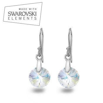 Swarovski Aurore Boreale, Rivoli Xilion Earrings