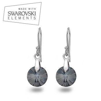Swarovski Silver Night Rivoli Xilion Earrings