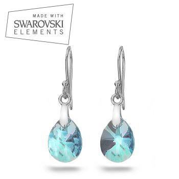 Swarovski Aquamarine Mini Pear Earrings